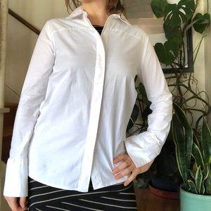 Anine Bing White Cotton Button Down Shirt XS